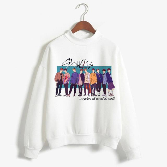 New Arrival Stray Kids Harajuku Printed K Pop Hoodies Women Sweatshirts Kpopwwetoro-wwetoro