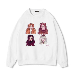 Blackpink Capless Sweatshirt Women Hip Hop 2018 New Fashion High Quality Womenwwetoro-wwetoro
