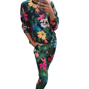 2018 New Women's Tracksuit Casual Costumes For Women Autumn Female Sporting Suitswwetoro-wwetoro