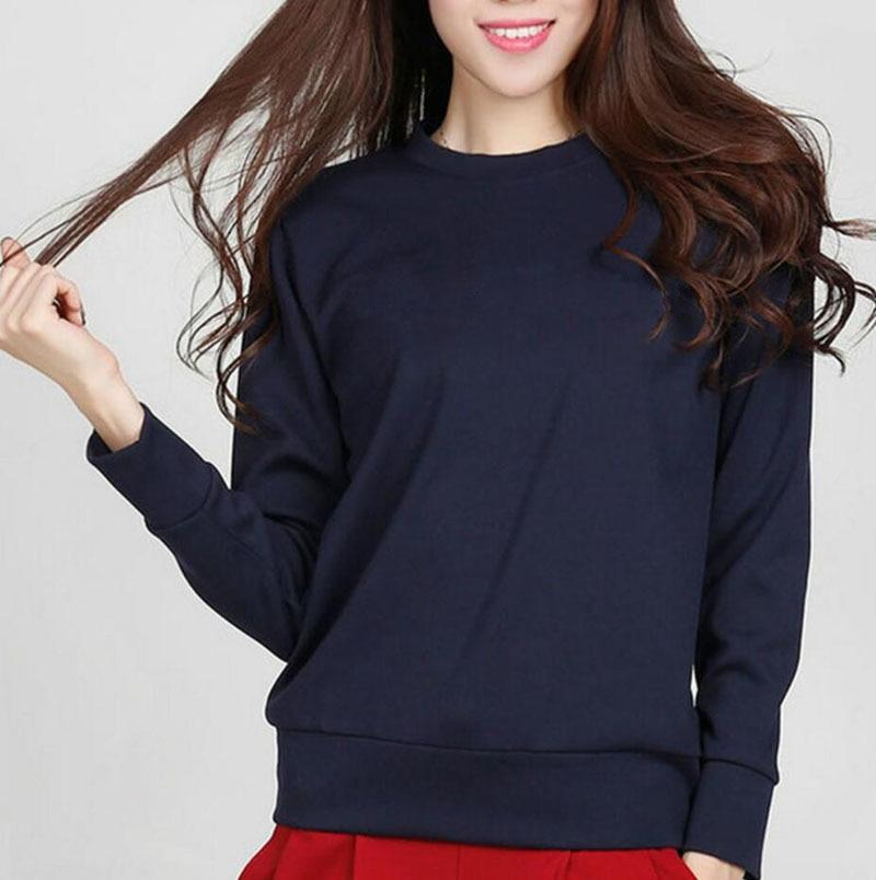 New arrival solid color women sweatshirt basic hoodies 2019 autumn winter casualwwetoro-wwetoro