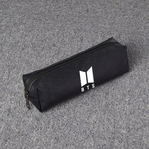 New Kpop BTS PU Pencil Cases Bangtan Boys School Supplies Student Officewwetoro-wwetoro