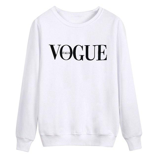 Women Gray White Black Pullovers Hoodies Sweatshirts Cotton Sporting Long Sleeve Harajukuwwetoro-wwetoro
