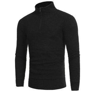 Man's Fashion Zipper Casual High-collar Men's Sweaters Tops 2018 winter male warmerwwetoro-wwetoro