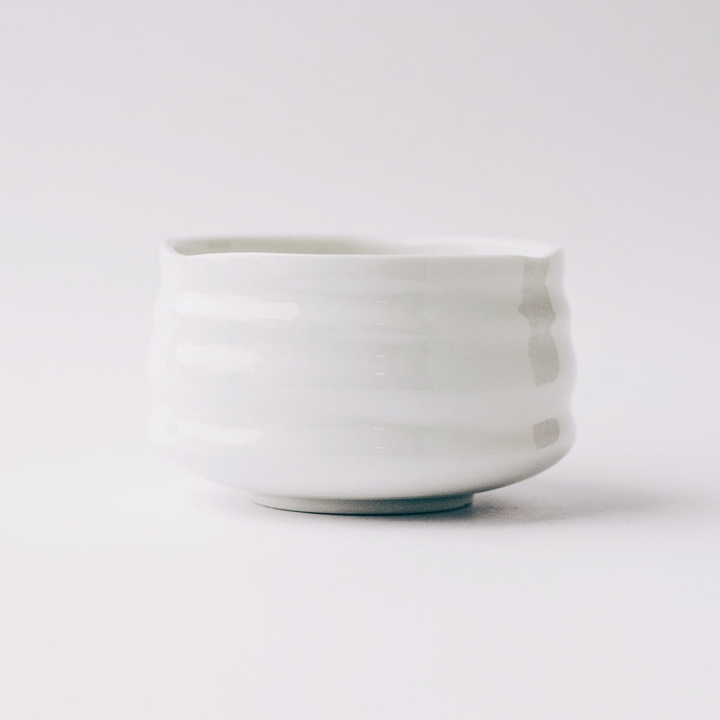 Front view of Traditional Chawan (matcha bowl)