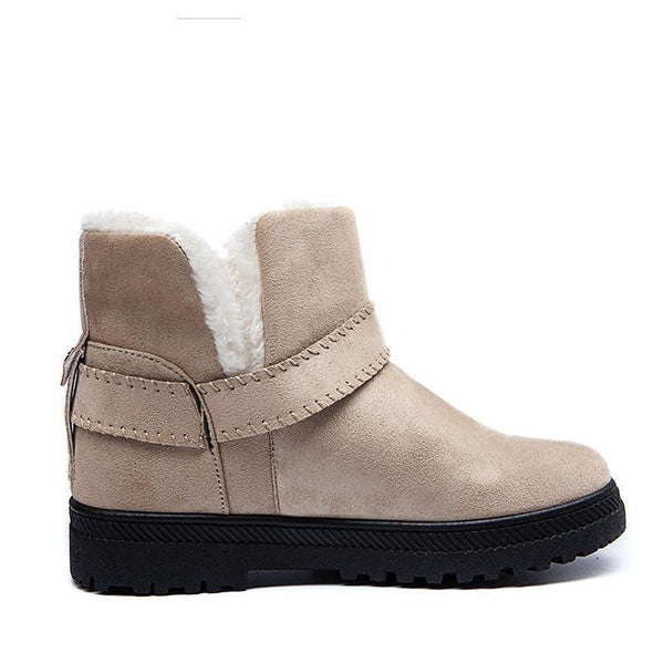 Women's Suede Plush Snow Boots