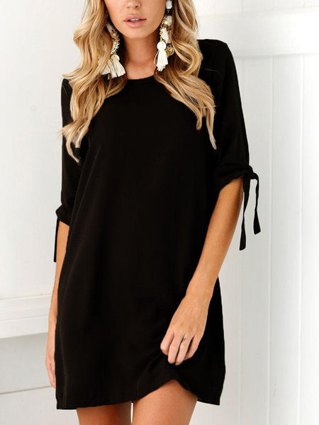 Women Round Neck Casual Casual Dresses