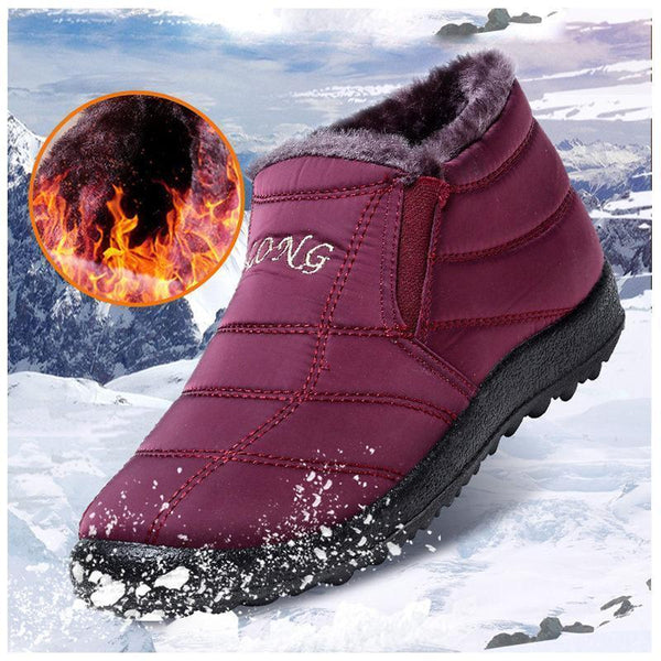Women's Water-resistant Soft Sole Slip On Warm Ankle Snow Boots