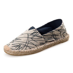Women's Hemp Graffiti Casual Flats