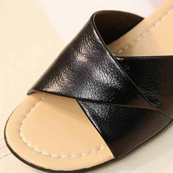 Women's Comfortable Genuine Leather Non-slip Slipper