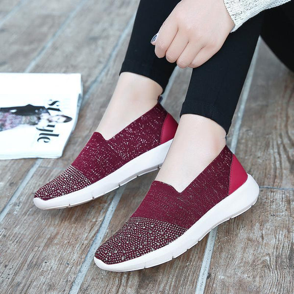 Women's Breathable Mesh Flats Sneakers