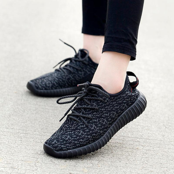 Womens Breathble Knit Running Sneakers