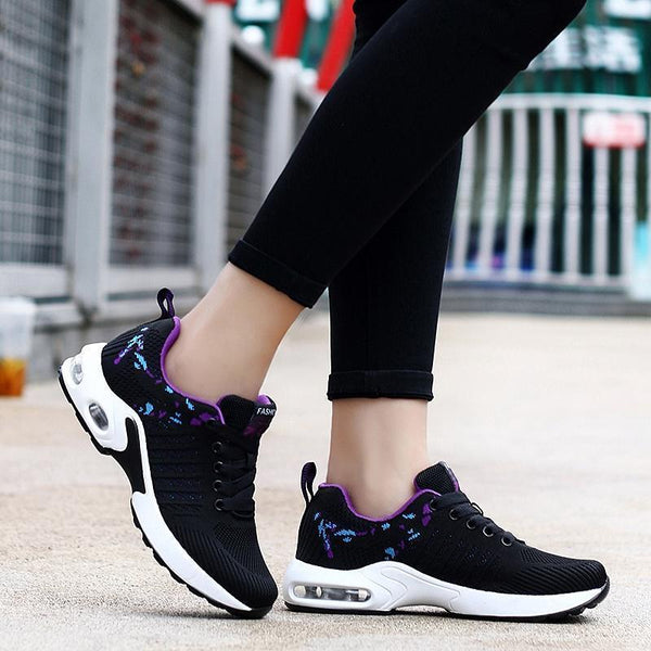 Women's Woven Flying Thick Sole Sneakers