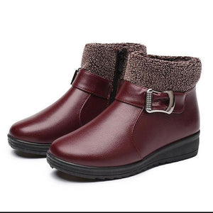 Women Non-slip Female Terry Ankle Boots