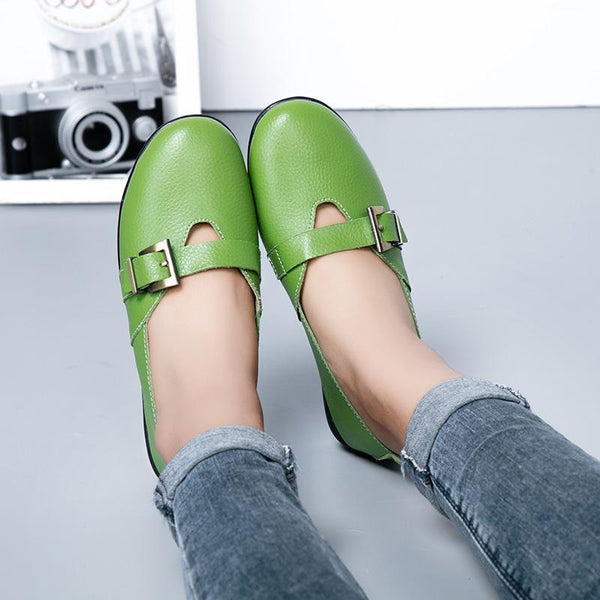 Women's Nurse Shoes Casual Comfortable Flat Peas Low Loafers