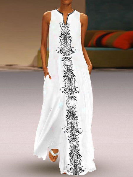 White Folkways Summer Maxi Dresses Vintage