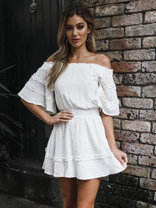 Pleated Ruffled A-line Dress