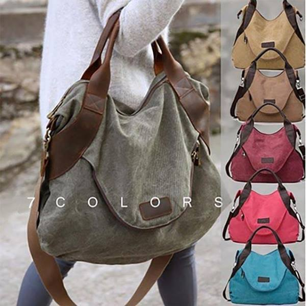 Women's Large Pocket Messenger Handbag