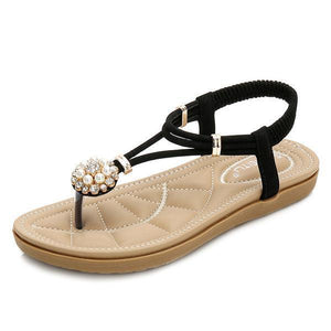Women Summer Boho Style Diamond Sandals