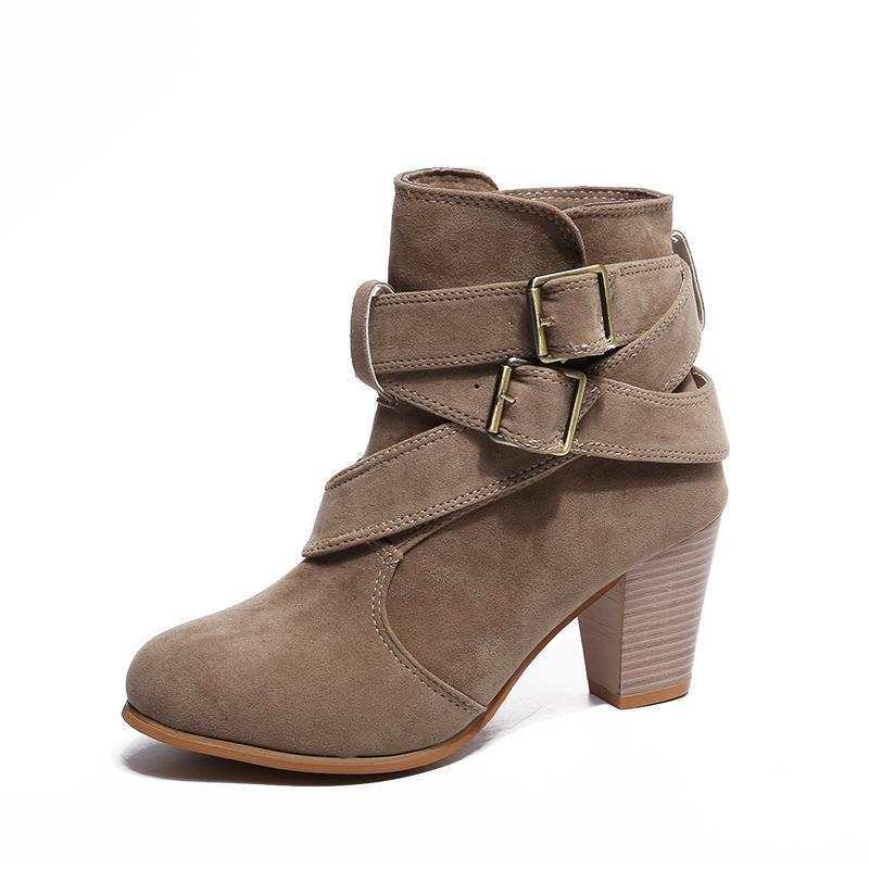 Women's Suede Boots High Heel Boots