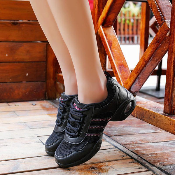 Women's Breathable Mesh Shock Absorption Anti-skid Dancing Shoes