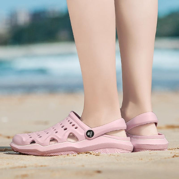 Women Breathable Non-slip Beach Hole Shoes