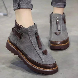 Womens Chelsea Platform Martin Ankle Boots