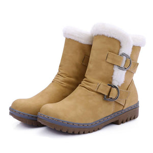 Women Non-slip Buckle Strap Snow Boots