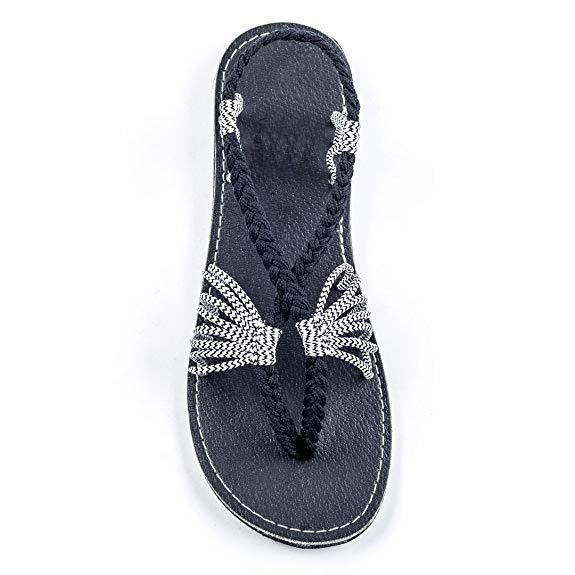 Women Handmade Hiking Beach Strap Woven Summer Sandals