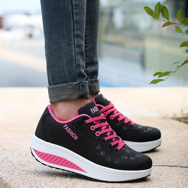 Women's Thick Bottom Sponge Rocking Sneakers