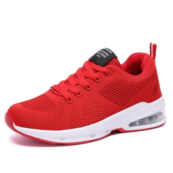 New Casual Sports Korean PU Air Cushion Flying Woven Women's Shoes