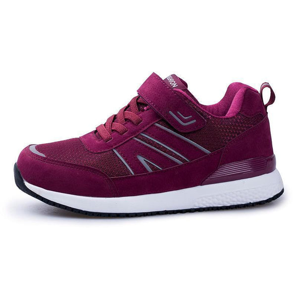 Women Outdoor Knit Soft Lace-up Velcro Sneakers