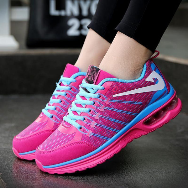 Women's Air Cushion Shock Absorbing Woven Sneakers