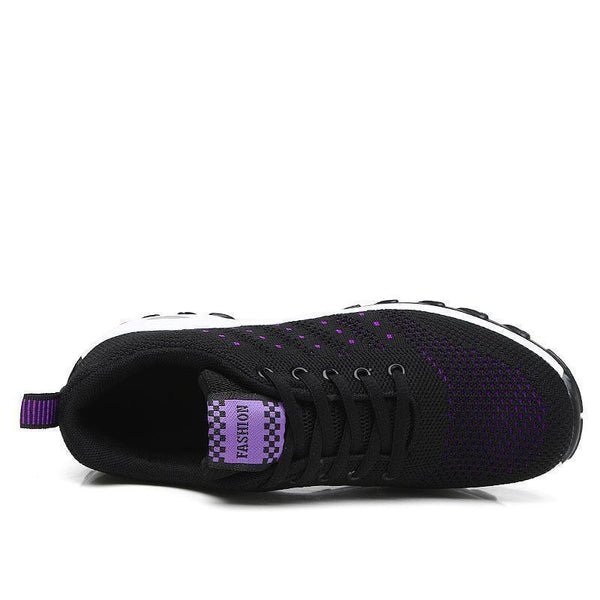 Women's Leisure Air Cusion Woven Knit Sneakers