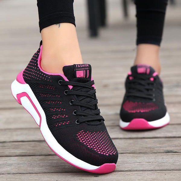 Women's Flying Woven Lace-up Sneakers
