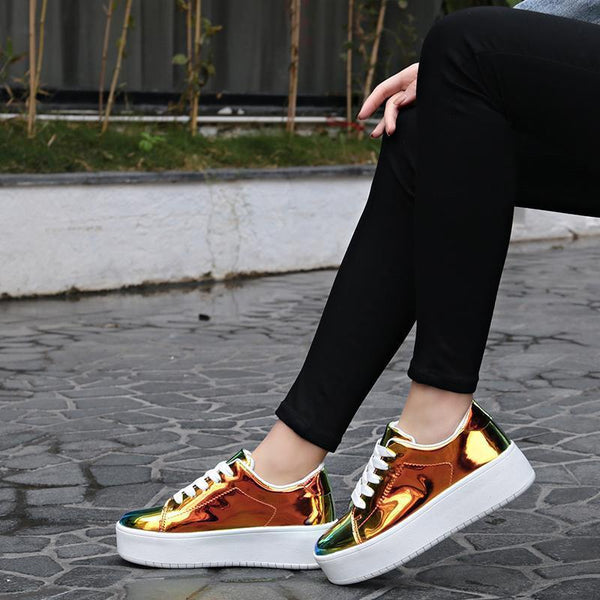 Women's New Sports And Leisure Laser Sneakers