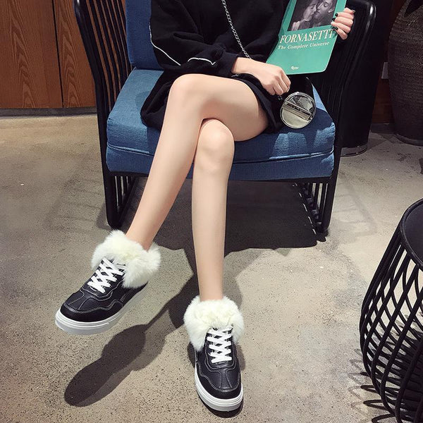 Women's Warm And Non-slip Shoes 2019 Winter New Leather Casual Shoes
