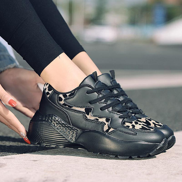 Women's Casual Leopard Dad Sports Shoes