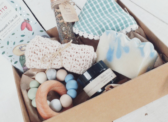 Vintage Baby Boy Gift Set Box
