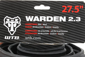 "WTB Warden 2.3 x 27.5"" TCS Tubeless Mountain Bike Tire"