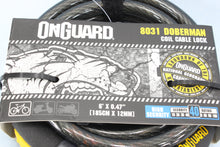 "Onguard Doberman Coil Cable Combination Lock 6'x0.47"" NOS"