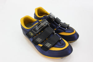 Shimano R121 Road Shoe Cycling Shoes Blue/Yellow Size 37 NOS