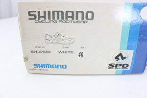 Shimano SH-A100 Road Shoe Cycling Shoes White Size 46 NOS Vintage