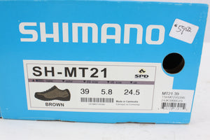 Shimano SH-MT21 MTB Cycling Shoes Brown Size 39 NOS