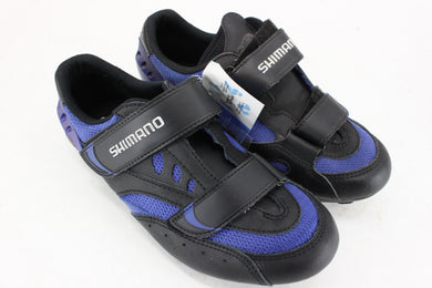 Shimano SH-R096B Road Cycling Shoes Black/Blue Size 38 NOS