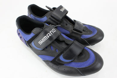 Shimano SH-R096B Road Cycling Shoes Black/Blue Size 47 NOS