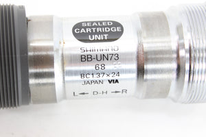 Shimano Sealed Cartridge Bottom Bracket BBUN73 D-H BC137 68mm NOS