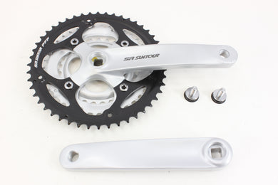 SR Suntour ST-XCT318 170mm Triple 28/38/48t Square Taper Crank Set NIB