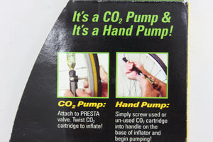Genuine Innovations Second Wind ROAD- Mini CO2 Inflator and Hand Pump 139psi