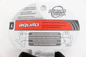 Planet Bike Aquilo Spring/Fall Cycling Gloves 3 Finger Large NEW