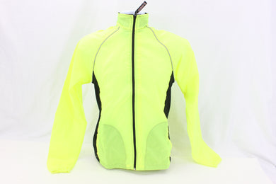 Pace Sportswear High Visibility Yellow Windstop Cycling Jacket